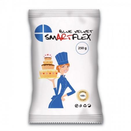 SmartFlex masa cukrowa Velvet Waniliowa niebieska 250 g