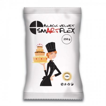 SmartFlex masa cukrowa Velvet Waniliowa czarna 250 g