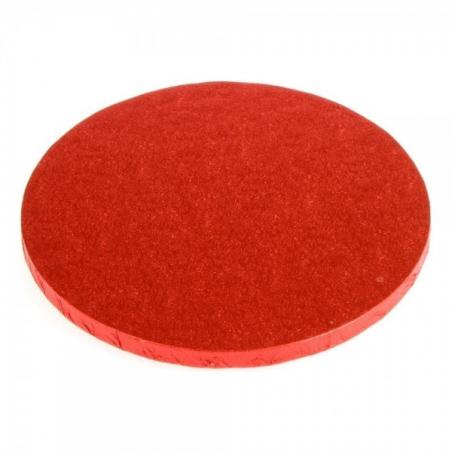 Podkład pod tort czerwony okrągły b. gruby śr. 25 cm
