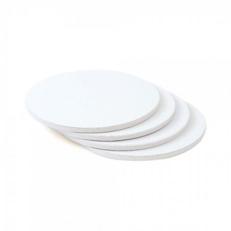 Podkład pod tort biały okrągły b. gruby śr. 25 cm
