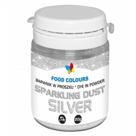 Barwnik spożywczy srebrny w proszku sparkling dust 20g
