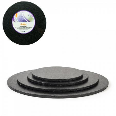 Podkład pod tort czarny okrągły b. gruby śr. 25 cm