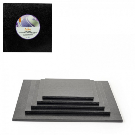 Podkład pod tort czarny kwadrat b. gruby 30 x 30 cm