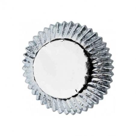 Papilotki do minimuffinek srebrne 45 szt.