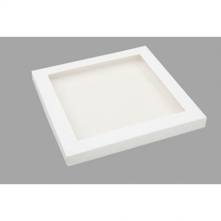 pudełko białe z okienkiem 21 x 21 x 2 cm
