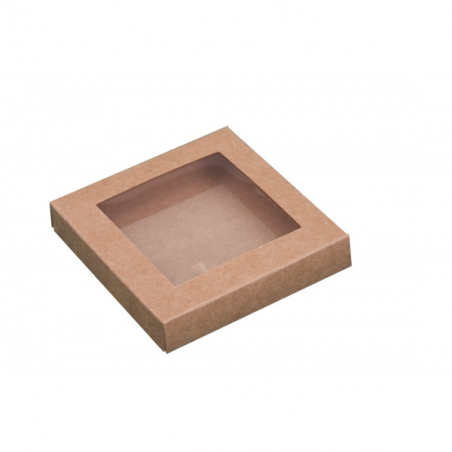 Pudełko eko z okienkiem 21 x 21 x 2 cm