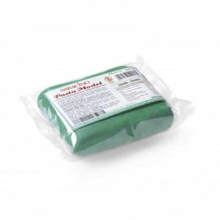 Masa cukrowa do figurek zielony 250 g Saracino