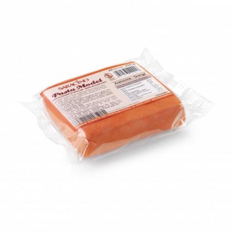 Masa cukrowa do figurek pomarańczowy 250 g Saracino
