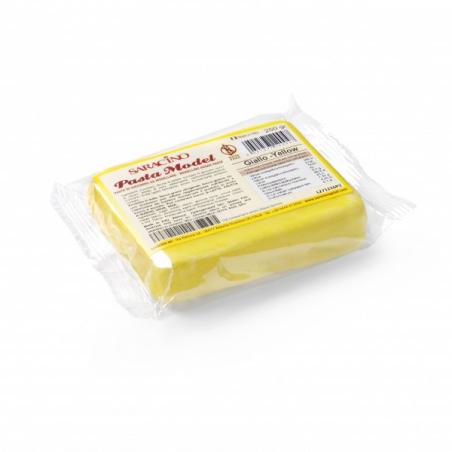 Masa cukrowa do figurek żółty 250 g Saracino