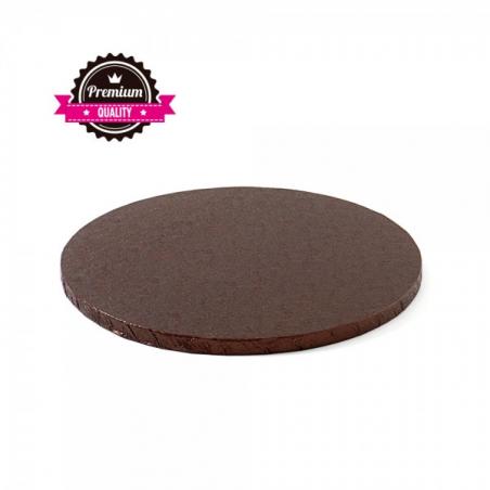 Podkład pod tort brązowy okrągły b. gruby śr. 35 cm