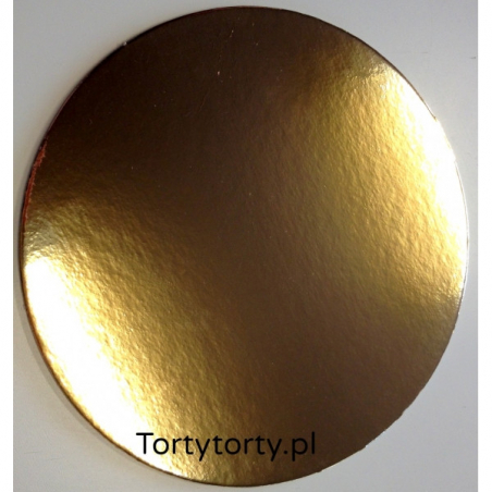 Podkład pod tort złoty okrągły śr. 26 cm, Zestaw 100 szt.