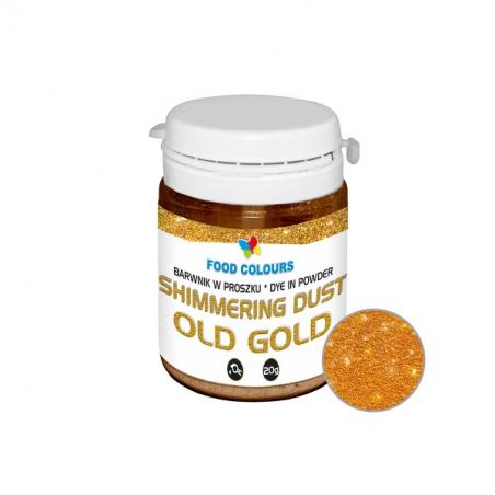 barwnik spożywczy stare złoto w proszku shimmering dust 20g