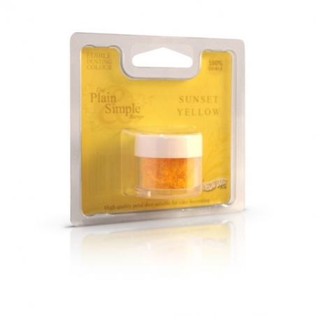 Barwnik spożywczy pudrowy żółty słoneczny mat