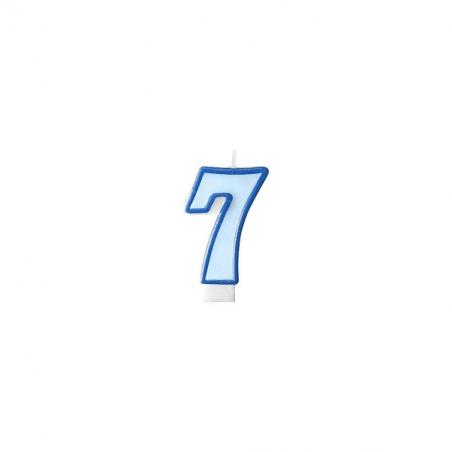 Świeczka niebieska cyfra 7
