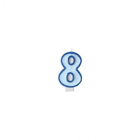 Świeczka niebieska cyfra 8