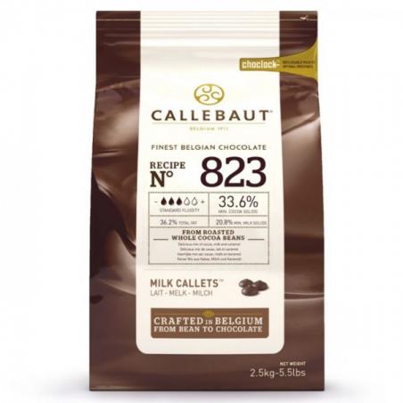 Czekolada mleczna Callebaut 823 w pastylkach 2,5kg