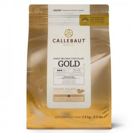 Czekolada karmelowa Callebaut Gold w pastylkach 2,5kg