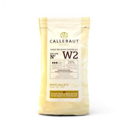 Czekolada biała W2 Callebaut w pastylkach 1kg