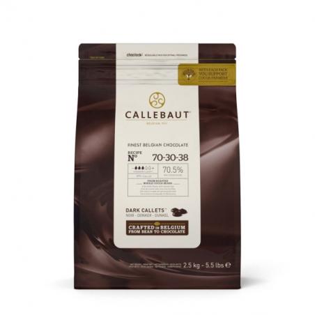 Czekolada extra ciemna Callebaut 70,5% w pastylkach 2,5 kg