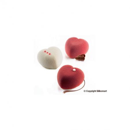Silikomart forma silikonowa amorini serca 63,5 x 65 mm  + wykrawaczka
