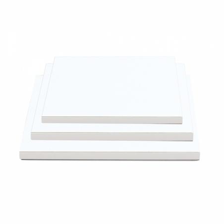 Podkład pod tort biały kwadratowy b. gruby 20 x 20 cm