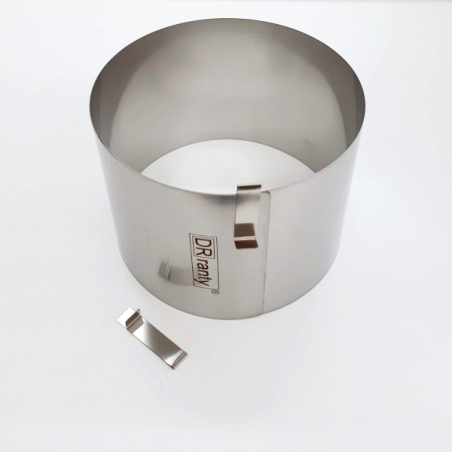 Rant cukierniczy 15 - 21 cm h 14 cm, bez podziałki, okrągły, regulowany Dorosiowe Ranty