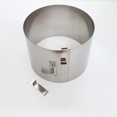 Rant cukierniczy 21 - 26 cm h 14 cm, bez podziałki, okrągły, regulowany, Dorosiowe Ranty