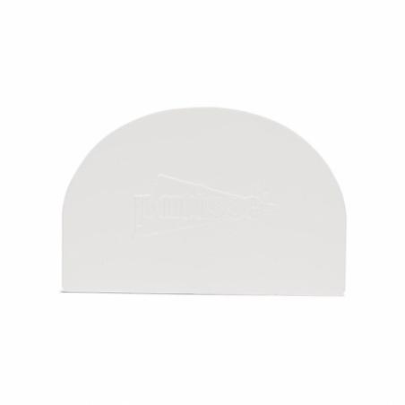 Skrobka do kremu półokrągła biała mała