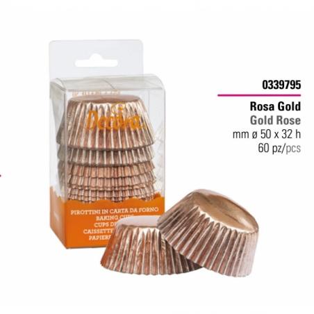 Papilotki do muffinek rose gold 60 szt.
