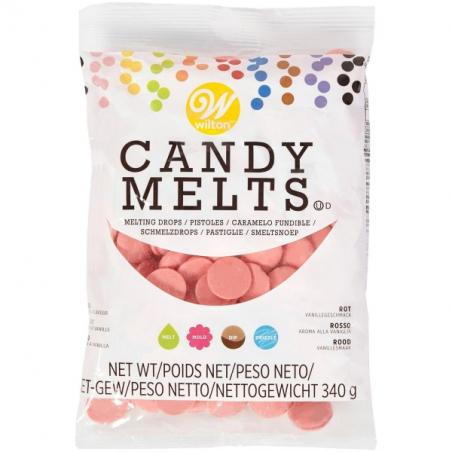 Candy melts polewa do cake popsów pastylki jasnoczerwona 340 g