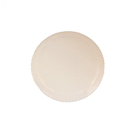 Podkład od tort biały okrągły sztywny z falbanką śr. 28 cm