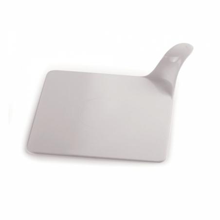 Podkład do monoporcji biały kwadratowy 8 x 8 cm, 50 sztuk, plastik