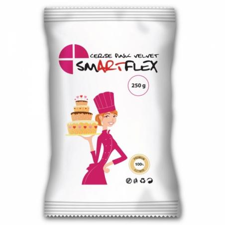 Smartflex masa cukrowa Velvet waniliowa intensywna różowa 250g