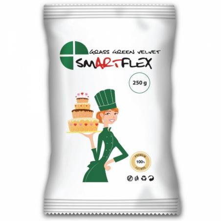 Masa cukrowa velvet waniliowa ciemna zielona 250g Smartflex