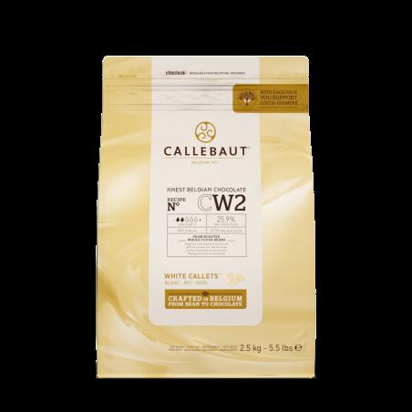 Czekolada biała Callebaut CW2 w pastylkach 2,5kg