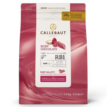 Czekolada Ruby Callebaut w pastylkach 2,5kg