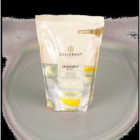 Czekoladowe perełki Crispearls biała czekolada Callebaut  0,8 kg
