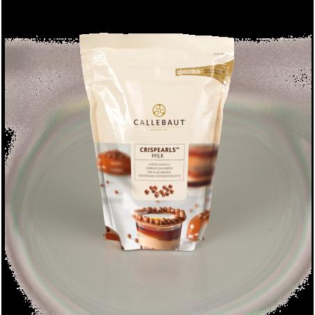 Czekoladowe perełki Crispearls mleczna czekolada Callebaut  0,8 kg