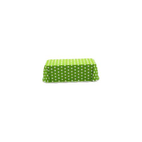 Forma do pieczenia jednorazowa zielona w groszki 22 x 9 cm