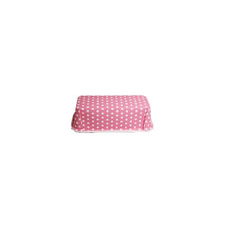 Forma do pieczenia jednorazowa różowa w groszki 18 x 7 cm