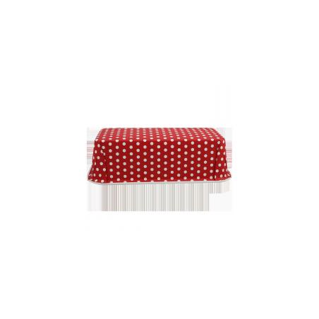 Forma do pieczenia jednorazowa czerwona w groszki 18 x 7 cm