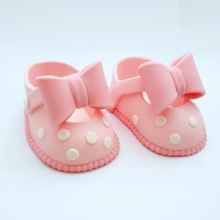 Dekoracja cukrowa buciki różowe