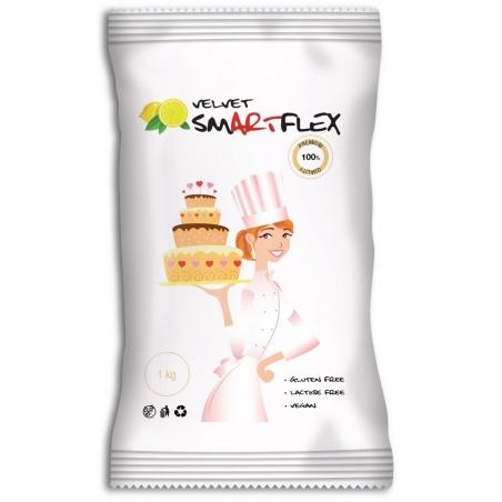 Smartflex masa cukrowa velvet biała cytrynowa 1 kg