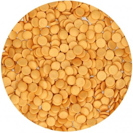 Posypka konfetti cekiny złote metaliczne Fun Cakes