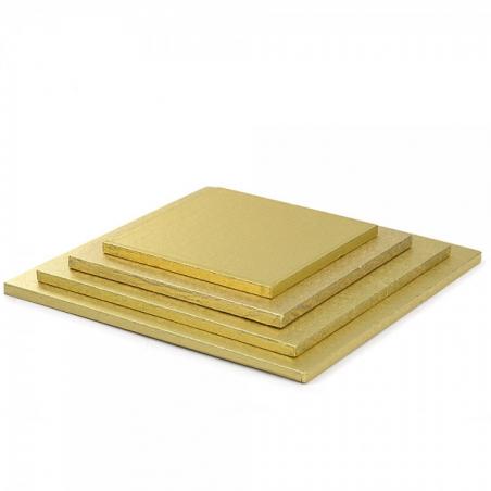 Podkład pod tort złoty kwadratowy b. gruby 30 x 30 cm