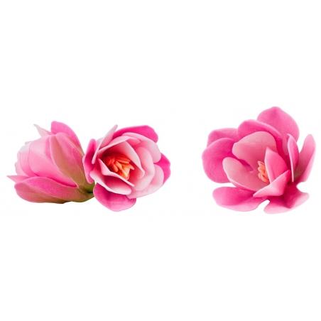 Kwiaty waflowe Magnolia różowa 6 szt.