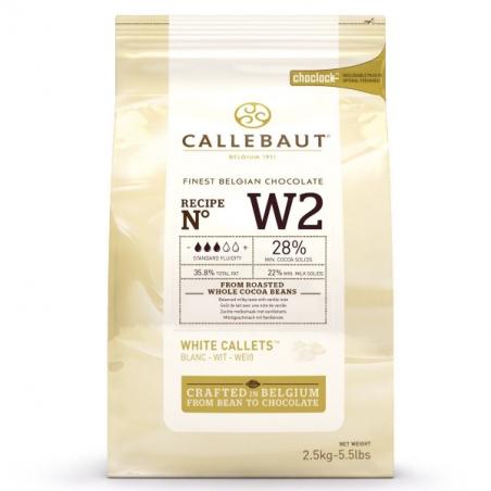 Czekolada  biała W2 callebaut w kaletkach 2,5kg