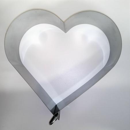 Rant cukierniczy Dorosiowe Ranty, serce na 15 porcji, h 8 cm