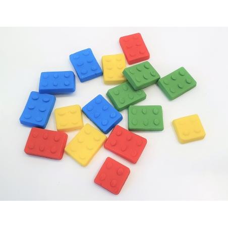 Dekoracja cukrowa kolorowe klocki 16szt