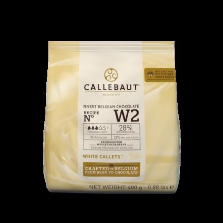 Czekolada biała W2 Callebaut w pastylkach 400g